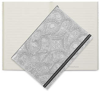 Christian Lacroix NEW Paseo Embossed A5 Journal Silver