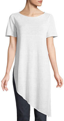 Eileen Fisher Organic Linen Knit Asymmetric Tunic