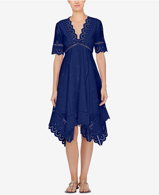 Catherine Malandrino Perry Lace-Trim Fit & Flare Dress $358 thestylecure.com