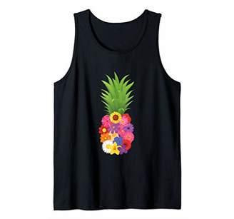 Cute Pineapple Flower Women Aloha Hawaii Island Vintage Gift Tank Top