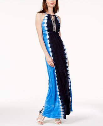 INC International Concepts I.n.c. Petite Tie-Dyed Maxi Dress