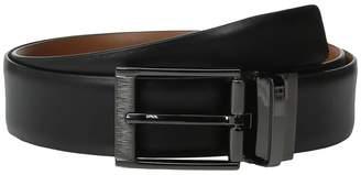 Perry Ellis Portfolio Etched Buckle Reversible Dress Belt Men's Belts