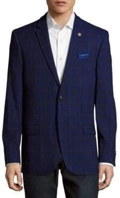 Ben Sherman Notch-Lapel Plaid Jacket