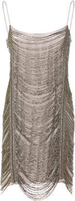 Zeynep Arçay Beaded Silk Mini Dress