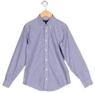 Brooks Brothers Boys' Pinstripe Button-Up Shirt