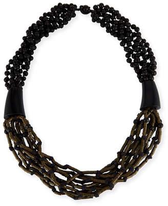 eskandar Multi-Strand Beaded Acai Necklace