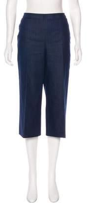 Akris Punto Cropped High-Rise Jeans