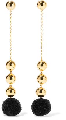 Elizabeth and James - Boca Gold-plated Pompom Earrings - one size $175 thestylecure.com