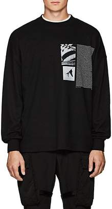 ALYX Men's Flag-Graphic Cotton-Blend Long-Sleeve T-Shirt - Black