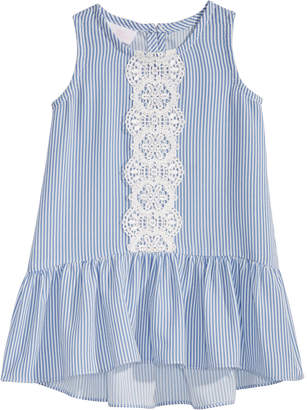 Bonnie Baby Baby Girls Striped Flounce Dress