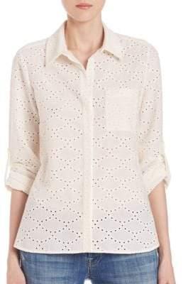 Diane von Furstenberg Lorelei Two Cotton Eyelet Shirt