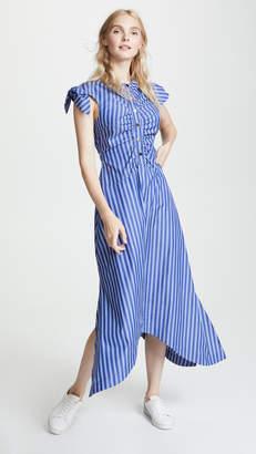 Derek Lam 10 Crosby Ruched Bodice Maxi Dress