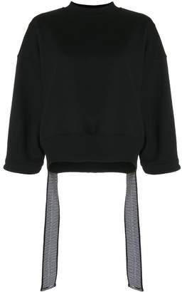 Krizia cropped side tail sweatshirt