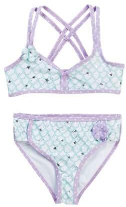 Jantzen Mermaid in Training Crisscross Back Top Bikini (Little Girls)
