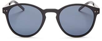 Polaroid Polarized Combination Round Sunglasses, 50mm