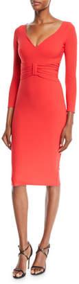 Chiara Boni Claudetta V-Neck Dress w/ Bow Front