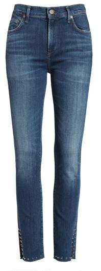 Citizens of Humanity Rocket Split Hem Ankle Skinny Jeans