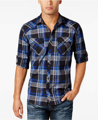 INC International Concepts I.n.c. Men's Plaid Shirt