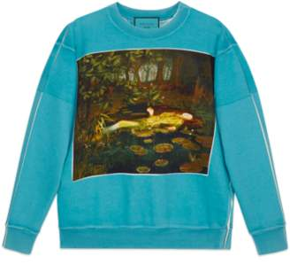 Gucci Oversize sweatshirt with Guccy print