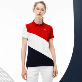 Lacoste Women's French Sporting Spirit Edition Colorblock Mini Piqué Polo