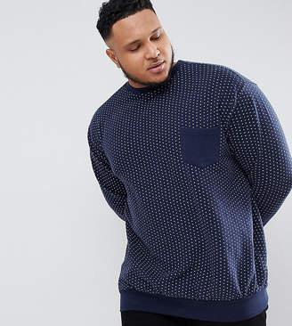 Mens Polka Dot Sweatshirt Shopstyle