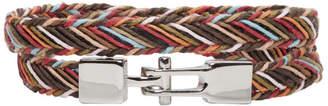 Paul Smith Multicolor Double Strap Multistripe Bracelet