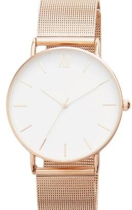 Women's Topshop Look Mesh Bracelet Watch, 40Mm $55 thestylecure.com