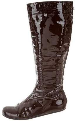 Lanvin Patent Leather Knee-High Boots
