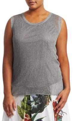 Marina Rinaldi Marina Rinaldi, Plus Size Argento Knit Top