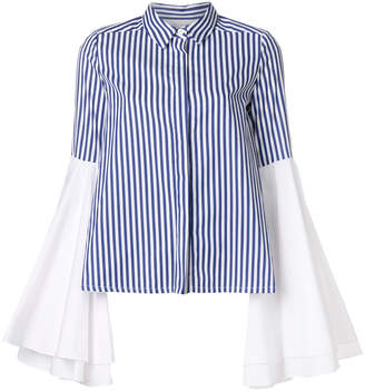 Milla flared sleeve striped shirt