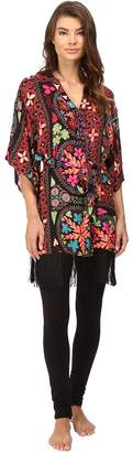 Josie Quilted Mojave Wrap with Fringe Women's Pajama