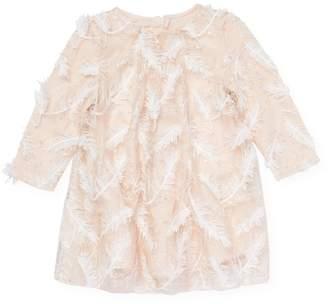 Billieblush Feather Embellished Dress