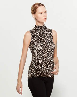 Cable & Gauge Sleeveless Mock Neck Top
