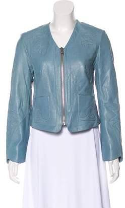 Zadig & Voltaire Long Sleeve Leather Jacket
