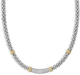 "Lagos Caviar Diamond Lux 5mm Necklace, 18"""