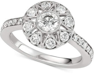 Marchesa Diamond Halo Engagement Ring (1 ct. t.w.) in 14k White Gold