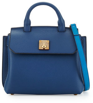 MCM Milla Leather Crossbody Tote Bag $730 thestylecure.com