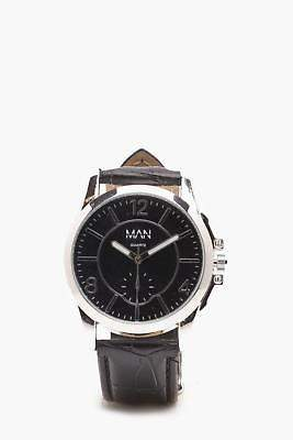 boohoo NEW Mens Classic Watch in Black size One Size