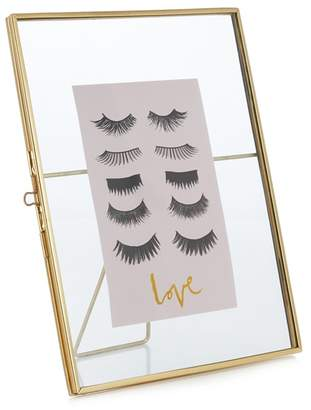 Debenhams Luxe Edit - Gold Trim Eyelash Photo Frame