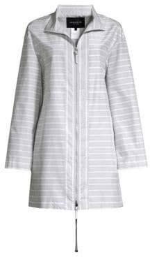 Lafayette 148 New York Minerva Cotton Silk Striped Jacket