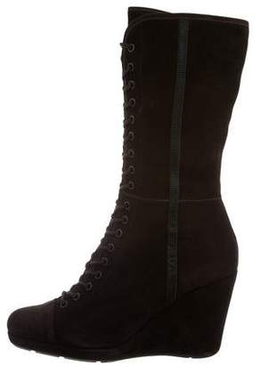 Prada Sport Suede Wedge Boots w/ Tags
