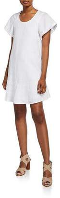 Joie Carlen Scoop-Neck Linen Shift Dress