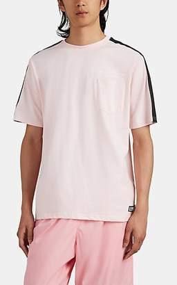 U.P.W.W. Men's Reflective-Tape-Trimmed Graphic Cotton T-Shirt - Pink