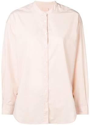 Closed mandarin-collar shirt