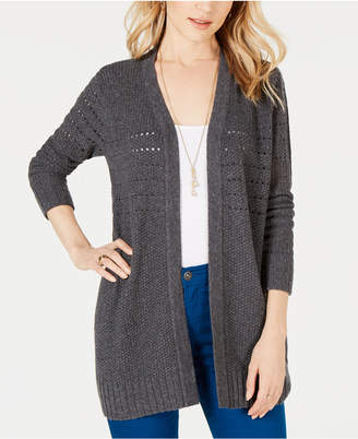 Style&Co. Style & Co Petite Mixed-Knit Duster Cardigan