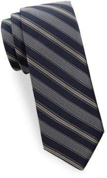 Saks Fifth Avenue Textured Stripe Silk Tie