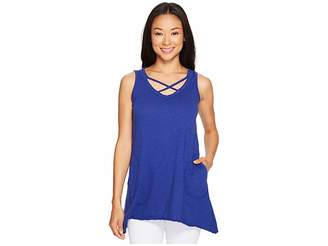 Allen Allen Crisscross Angled Tunic Women's Clothing