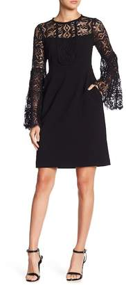 Nanette Lepore Latin Lovers Lace Bell Sleeve Dress