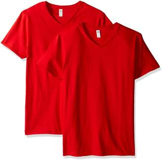 Fruit of the Loom Men's V-Neck T-Shirt (2 Pack)