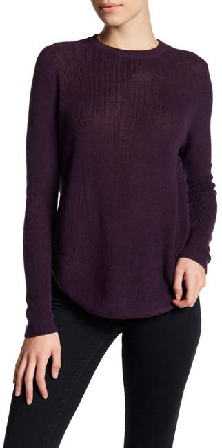 Line Ribbed Crew Neck Sweater